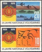 Germany 1976 Armed Forces/ Military/ Planes/ Tanks/ Ships/ Army/ Navy/ Air Force/ Soldiers/ Transport 2v set (n43609)