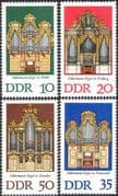 Germany 1976 Gottfried Silbermann/ Organs/ Music/ Musical Instruments 4v set (n44461)