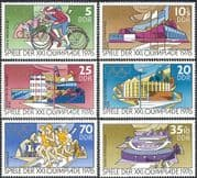 Germany 1976 Olympic Games/ Olympics/ Sports/ Cycling/ Bikes/ Bicycles/ Stadia/ Stadium/ Buildings/ Architecture 6v set (n43560)
