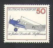 Germany 1976 Planes  /  Aircraft  /  Aviation  /  Transport  /  Industry  /  Commerce 1v (n35353)