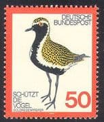 Germany 1976 Plover  /  Birds  /  Nature Protection  /  Wildlife  /  Conservation 1v (n37076)