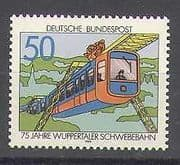 Germany 1976 Train  /  Railway  /  Transport  /  Monorail  /  Rail  /  Engineering 1v (n25166)