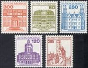 Germany 1977 (1982 additional values) Castles/ Buildings/ Architecture/ Heritage/ History 5v (n28600)