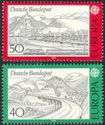 Germany 1977 Europa/ Trains/ Rail/ Railway/ Motorway/ Roads/ Transport 2v set (n25711)