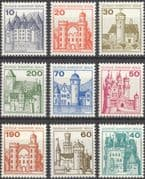 Germany 1977 German Castles/ Buildings/ Architecture/ History/ Heritage 9v set (n28594)