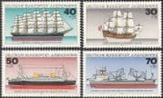 Germany 1977 Youth Welfare Fund/Ships/Boats/Sailing/Nautical/Transport 4v set (n42082)