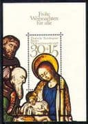 Germany 1978 Christmas  /  Greetings  /  Nativity 1v m  /  s n28282