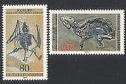 Germany 1978 Fossils  /  Bats  /  Horses  /  Animals  /  Nature  /  Wildlife 2v set (n35331)
