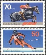 Germany 1978 Horse Jumping/ Skiing/ Sport/ Games/ Sports Fund/ Horses 2v set (n42105)