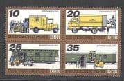 Germany 1978 Mail Transport  /  Rail  /  Truck 4v blk (n24502)