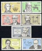 Germany 1978 Science  /  Heart  /  Sight  /  Medical  /  Farming  /  Books  /  People 7v set (n28288)