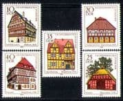 Germany 1978 Town Hall  /  Farmhouse  /  Houses  /  Architecture  /  Buildings 5v set (n28321)