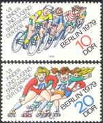 Germany 1979 Cycling/ Bikes/ Bicycles/ Sports/ Games/ Skating/ Animation 2v set (n29294)