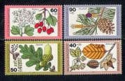 Germany 1979 Trees  /  Flowers  /  Fruits  /  Nature  /  Plants  /  Berries  /  Cones 4v set (s4122a)