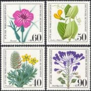 Germany 1980 Relief Fund/ Wild Flowers/ Plants/ Nature/ Welfare 4v set (n28120)