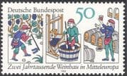 Germany 1980 Vine Growing/ Wine Making/ Plants/ Grapes/ Nature/ Alcohol 1v (n27969)