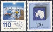 Germany 1981 Antarctic  /  Polar  /  Map  /  Treaty  /  Tractor  /  Base  /  Scientist  2 x 1v (n20370)