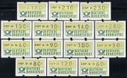 Germany 1981 ATM/ Automatic/ Machine/ Animation 14v set (n29118)