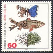 Germany 1981 Butterfly/ Fish/ Tree/ Environment/ Pollution/ Conservation 1v (b5363)