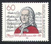 Germany 1981 Georg Telemann/ Music/ Composer/ People/ Musical Score 1v (n31595)
