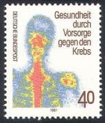 Germany 1981 Medical  /  Health  /  Cancer  /  Welfare 1v (n27529)