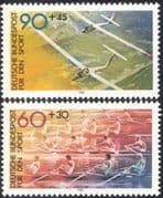Germany 1981 Sports/ Gliding/ Planes/ Aircraft/ Aviation/ Boats/ Rowing/ Transport 2v set (n27897)