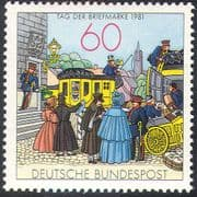 Germany 1981 Stamp Day/ Mail Coach/ Post Van/ Postman/ Transport 1v (n27964)