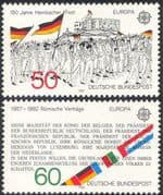 Germany 1982 Europa/ Flags/ EEC/ Treaty of Rome/ Hambach Castle 2v set (n23586)