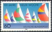 Germany 1982 Kiel Regatta 100th Anniversary/ Boats/ Yachts/ Sports/ Sailing/ Transport/ Animation 1v (n20369)