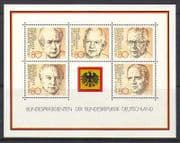 Germany 1982 People  /  Politics  /  Presidents 5v m  /  s (n23600)