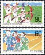 Germany 1982 Sports Promotion Fund/ Archery/ Disabled /Wheelchair/ Athletics 2v set (n27516)