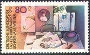 Germany 1982 Stamp Day/ Letters/ Mail/ Writing/ Desk/ Communications 1v (n23577)