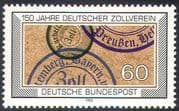 Germany 1983 German Customs Union 150th Anniversary / Stamps/ Franks 1v (n23574)