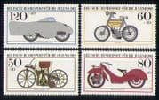 Germany 1983 Motorcycles  /  Bikes  /  Transport 4v set  n27899