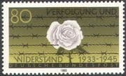 Germany 1983 Rose/ Barbed Wire/ Prisoners/ Persecution/ WWII/F lowers 1v (n31281)