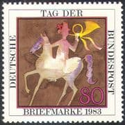Germany 1983 Stamp Day/ Horse/ Rider/ Posthorn/ Transport/ Art/ Animation 1v (n27680)