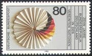 Germany 1983 Tenth Anniversary of UN Membership  /Flag /Rosette 1v (n23573)