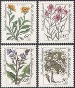 Germany 1983 Welfare Fund/ Endangered Plants/ Alpine Flowers/ Nature/ Willow/ Thistle 4v set (n31287)