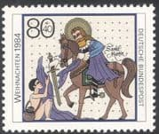 Germany 1984 Christmas/ Greetings/ Horse/ Saint Martin/ Transport/ Animated 1v (n27684)