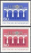Germany 1984 Europa/ CEPT 25th Anniversary/ Bridges/ Emblem 2v set (n31323)