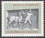 Germany 1984 Neuss/ Horse/ Groom/ Transport/ Art/ Carving/ Animals 1v (n27682)