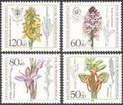 Germany 1984 Orchids/ Flowers/ Plants/ Nature/ Welfare Fund 4v set (n28267)