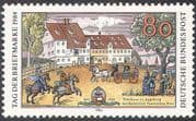 Germany 1984 Stamp Day/ Taxis Posthouse/ Horses/ Transport/ Post/ Buildings 1v (n27687)