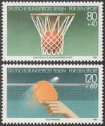 Germany 1985 Basketball/ Table Tennis/ Sport/ Games/ Sports Fund 2v set (n25069)