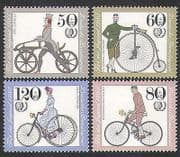 Germany 1985 Bicycles  /  Bikes  /  Cycling  /  Transport  /  Youth Welfare 4v set (n35571)