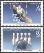 Germany 1985 Bowling/ Canoeing/ Sport/ Games/ Sports Fund 2v set (n25070)
