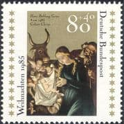 Germany 1985 Christmas/ Greetings/ Nativity/ Art/ Artist/ Painting/ Cattle 1v (g10106)