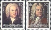 Germany 1985 Europa/ Bach/ Handel/ Composers/ Music/ Musicians/ People 2v set (n31325)
