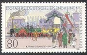 Germany 1985 Railway/ Trains/S team Engine/ Locomotive/ Rail/T ransport 1v (n24165)