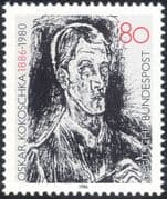 Germany 1986 Oskar Kokoschka/ Writer/ Artist/ Authors/ Writers/ Books/ Literature 1v (n44491)